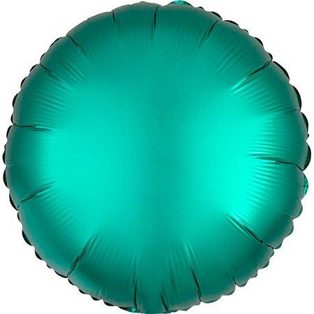 Balão Metalizado Redondo Verde claro Cromo 45 cm