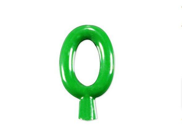 Vela de Aniversário Verde Neon -  Número 0