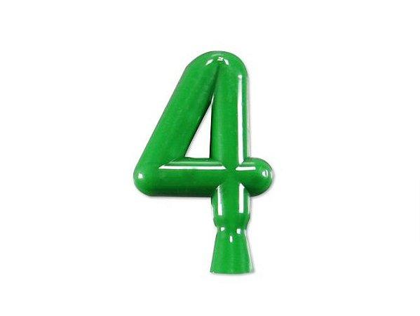 Vela de Aniversário Verde Neon Número 4