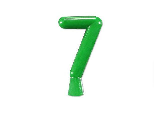 Vela de Aniversário Verde Neon Número 7