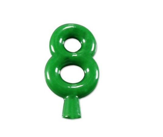 Vela de Aniversário Verde Neon Número 8