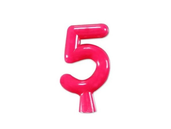 Vela de Aniversário Pink Neon - Número 5