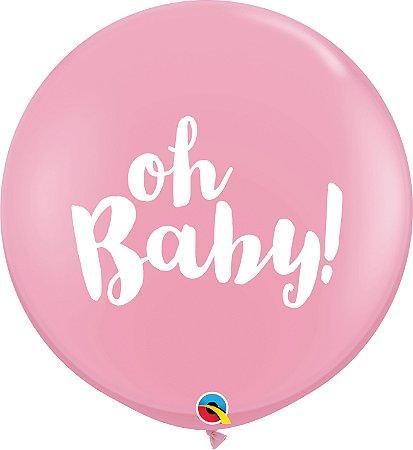 Balão Latex 3 Pés - Revelação - Rosa