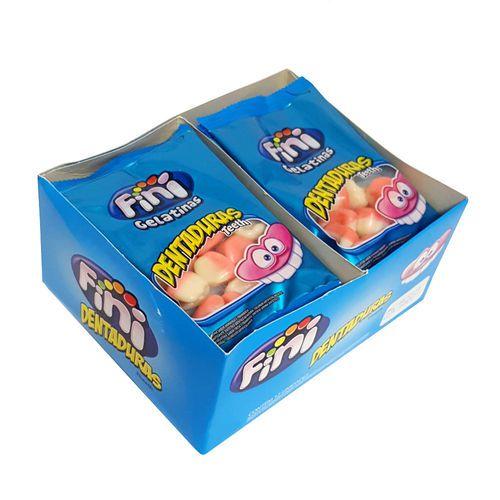 Mini Dentadura Açucaradas com 12 pacotes de 15g cada - Fini