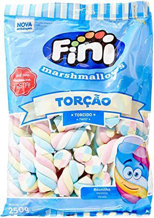 Marshmallows Torção Colorido- 250 g