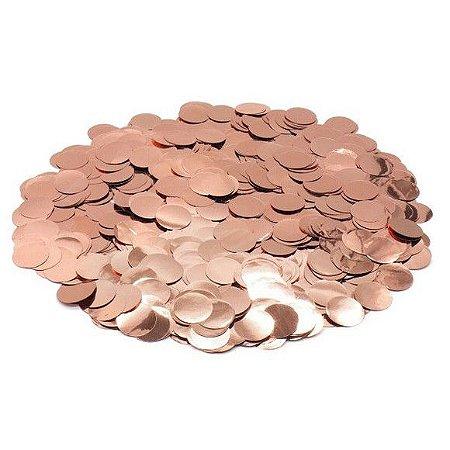 Confete Metalizado - Rose Gold - 2 cm - 200 pçs
