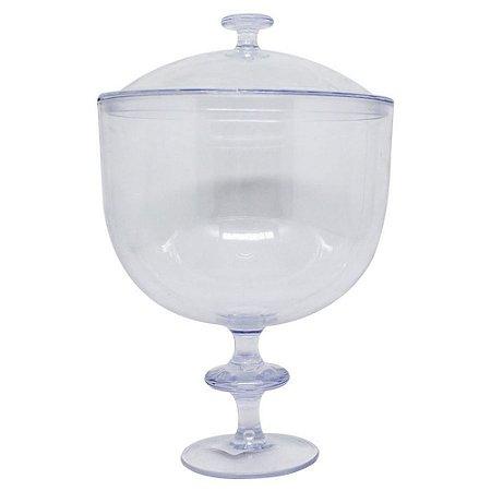 Taça Americana com Tampa  1,25l - Transparente