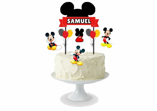 Topo de bolo personalizado - Mickey