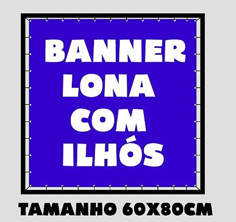 Banner Lona Brilho Com Ilhos - Impressão Digital 60x80