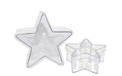 Caixa Acrílica de Estrela - 10 unidades