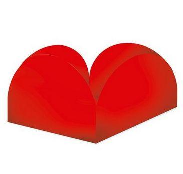 Porta Forminha 4 Pétalas - Vermelho - 50 Unidades