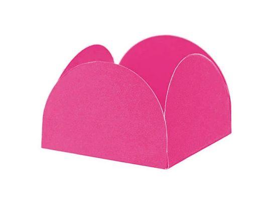 Porta Forminha 4 Pétalas Rosa Pink - 50 unidades