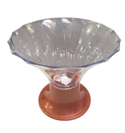 Taça Diamante Transparente Com Base Rose Gold - 2,5L