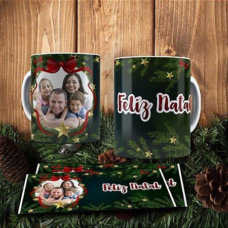 Caneca Cerâmica - Feliz Natal com Foto