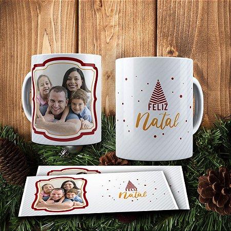 Caneca Cerâmica - Feliz Natal Personalizada Com Foto
