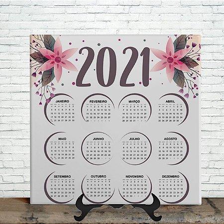 Azulejo Personalizado - Calendário Floral 2021