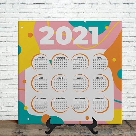 Azulejo Personalizado - Calendário Color 2021