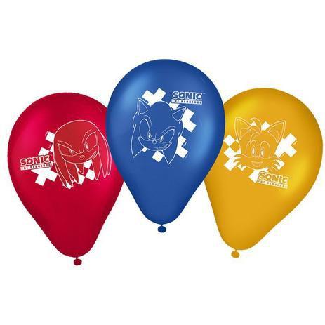 Balão Látex com 9 Polegadas - Sonic