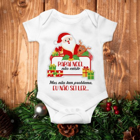 Body Especial de Natal do Papai Noel Divertido