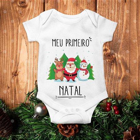 Body Meu Primeiro Natal - Amigos do Papai Noel