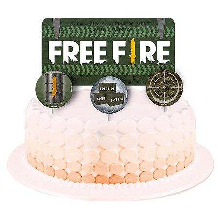 Topo de Bolo - Free Fire - 4 unidades