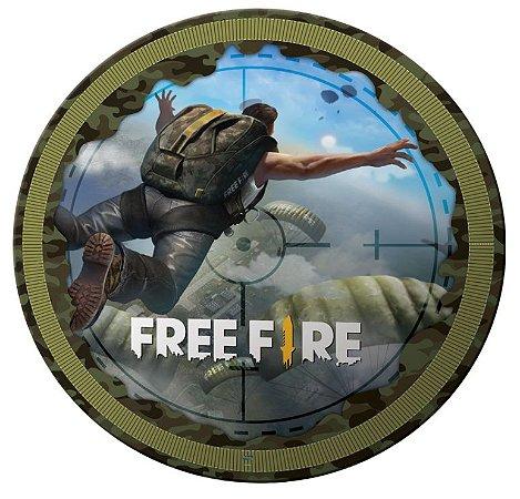 Prato Descartável Free Fire - 08 unidades