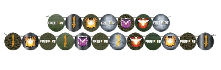 Faixa Decorativa - Free Fire