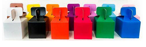 Caixa Cubo Para Lembrancinha - Azul Claro