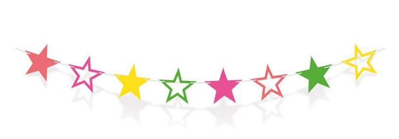Faixa Decorativa - Estrelas Neon