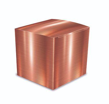 Caixa Cubo Para Lembrancinha - Rose Gold - 8 unidade