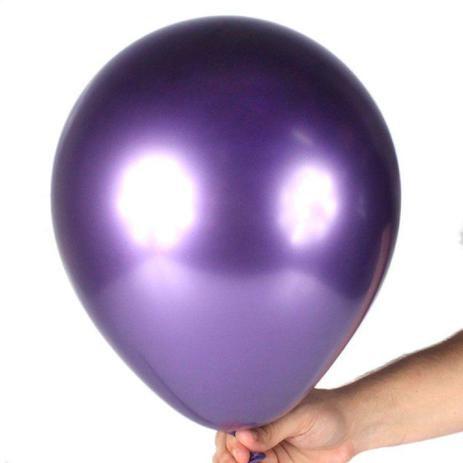 Balão Cromado n° 9 Roxo - Art Latex