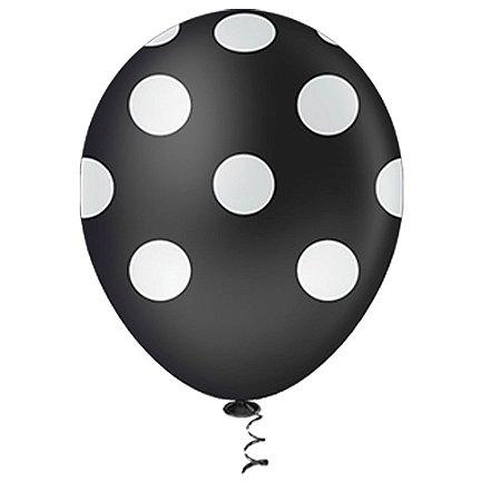 Balão Latex  nº10 - Preto c/ branco - pic pic