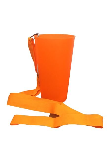 Copo Ecológico - Laranja Neon com Tirante -  500ml