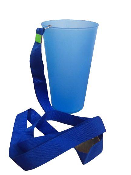 Copo Ecológico - Azul com Tirante -  500ml