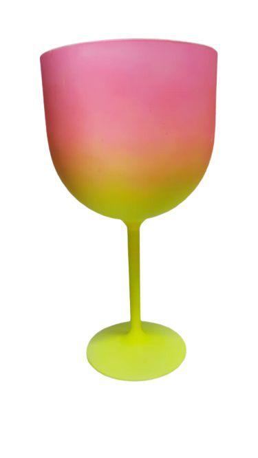 Taça Gin Bicolor - Rosa/Amarelo
