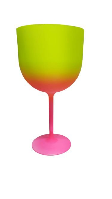 Taça Gin Bicolor - Amarela/Rosa