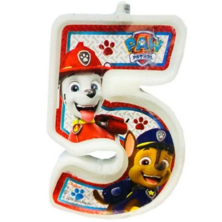 Vela Numeral Patrulha canina - Nº 5