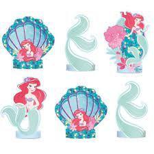 Decoração de Mesa - Festa Ariel sereismo - 6 unidades