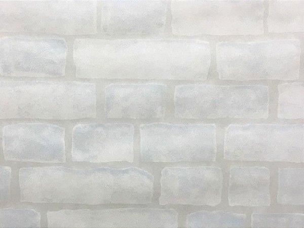 Tnt Estampado - Tijolinho branco -1 metro