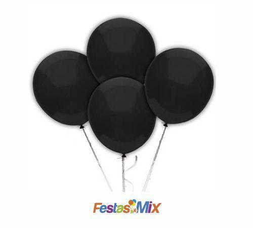 Balão Látex 6,5 Polegadas - Preto - 50 unidades