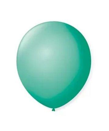 Balão Látex - 9 Polegadas - tiffany - 50 unidades