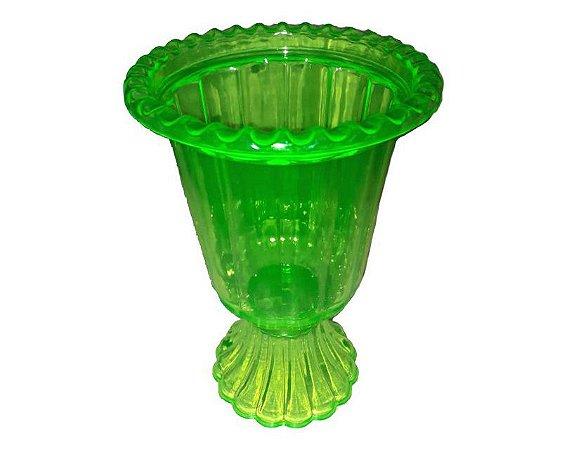 Vaso Grego Plástico - verde Flúor Transparente