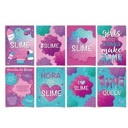 Cartaz decorativo - Slime - 08 unidades