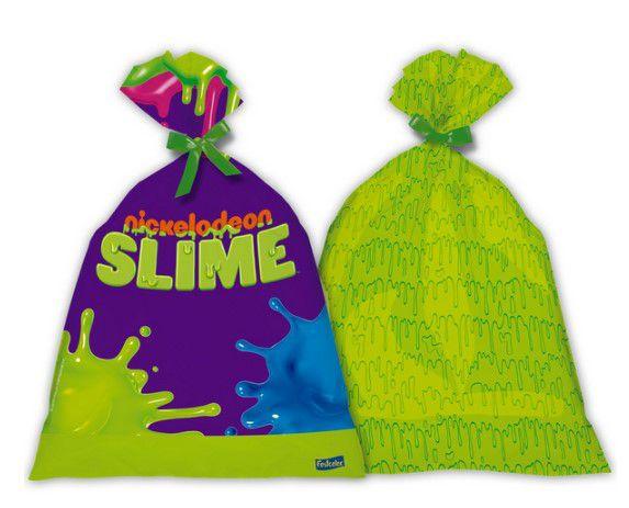 Sacola Surpresa Plástica - Festa Slime