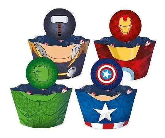 Saia para cupcake - Vingadores - 12 unidades