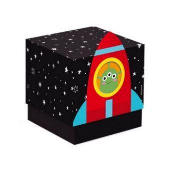 Caixa Cubo para Lembrancinhas- Astronauta - 08 unidades