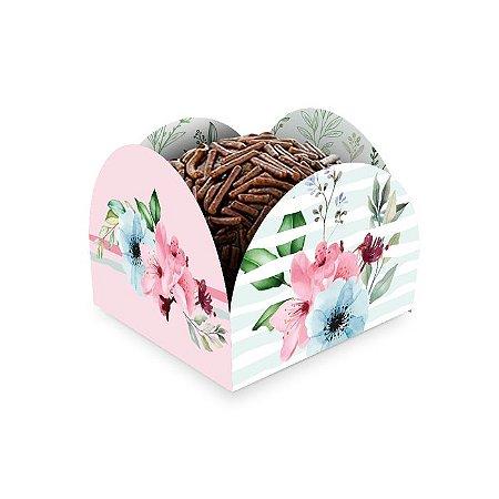 Porta forminha - Floral - 50 unidades