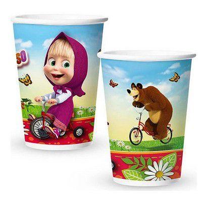 Copo de Papel 180ml - Masha e o Urso - 30 unidades