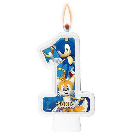 Vela numeral - Sonic - N° 1