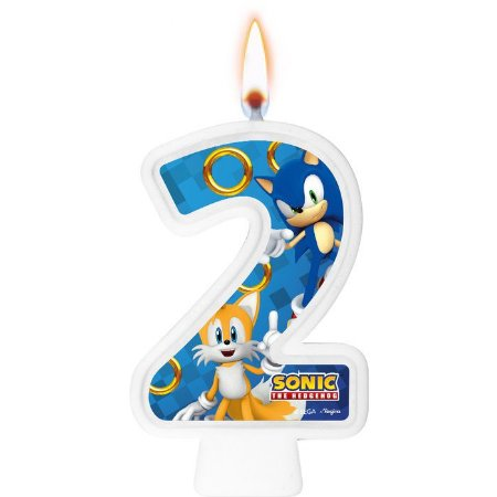 Vela numeral - Sonic - N° 2